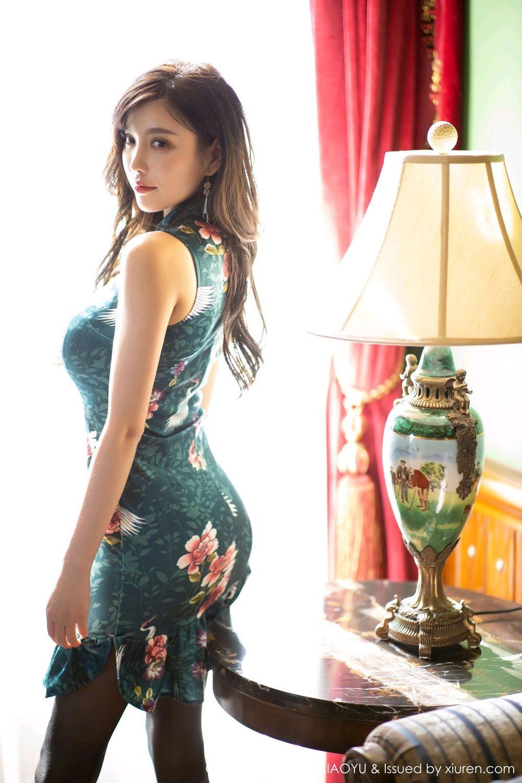 [XiaoYu] Vol.247 Yang Chen Chen 30P, Black Silk, Cheongsam, XiaoYu, Yang Chen Chen