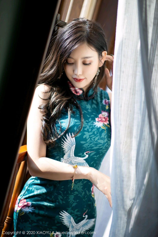 [XiaoYu] Vol.247 Yang Chen Chen 32P, Black Silk, Cheongsam, XiaoYu, Yang Chen Chen