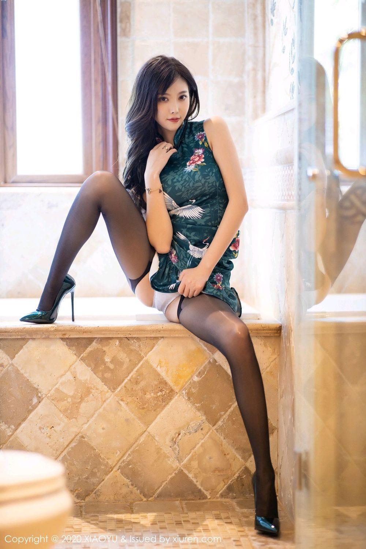[XiaoYu] Vol.247 Yang Chen Chen 41P, Black Silk, Cheongsam, XiaoYu, Yang Chen Chen