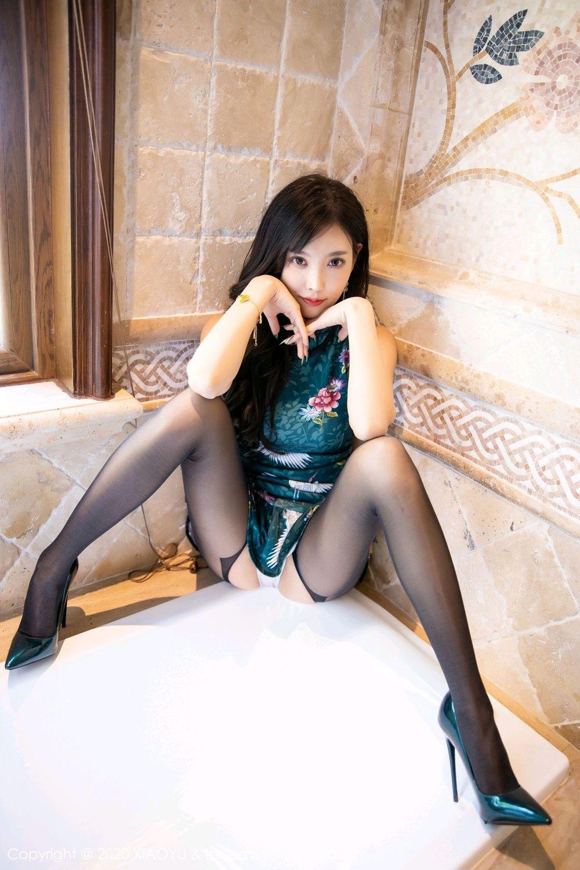 [XiaoYu] Vol.247 Yang Chen Chen 42P, Black Silk, Cheongsam, XiaoYu, Yang Chen Chen