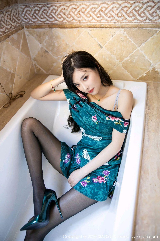 [XiaoYu] Vol.247 Yang Chen Chen 61P, Black Silk, Cheongsam, XiaoYu, Yang Chen Chen