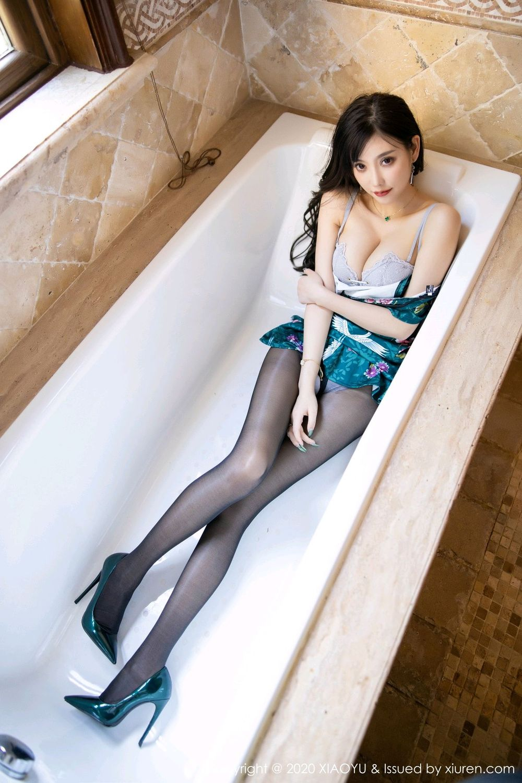 [XiaoYu] Vol.247 Yang Chen Chen 65P, Black Silk, Cheongsam, XiaoYu, Yang Chen Chen