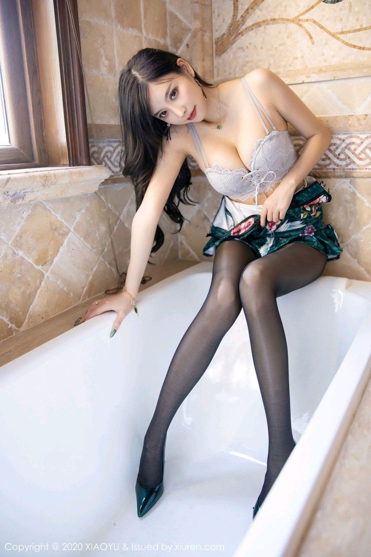 [XiaoYu] Vol.247 Yang Chen Chen 70P, Black Silk, Cheongsam, XiaoYu, Yang Chen Chen