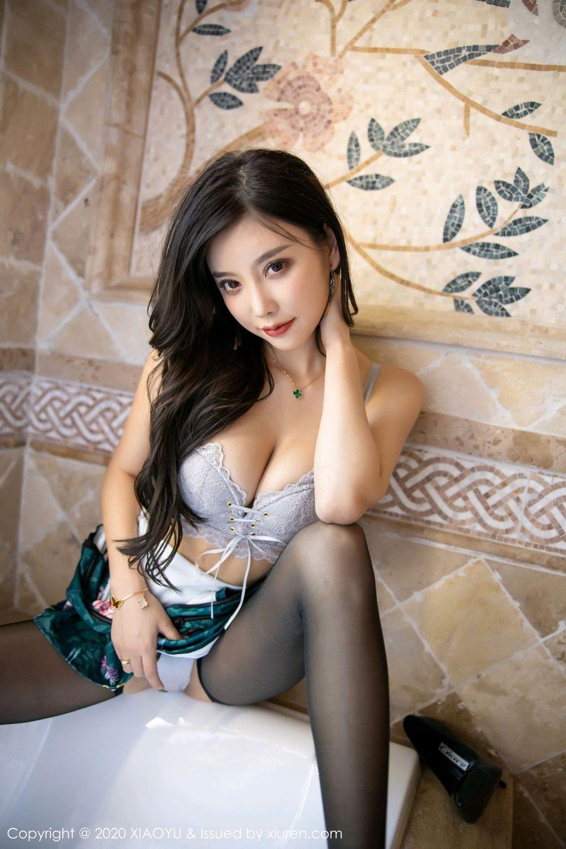 [XiaoYu] Vol.247 Yang Chen Chen 73P, Black Silk, Cheongsam, XiaoYu, Yang Chen Chen