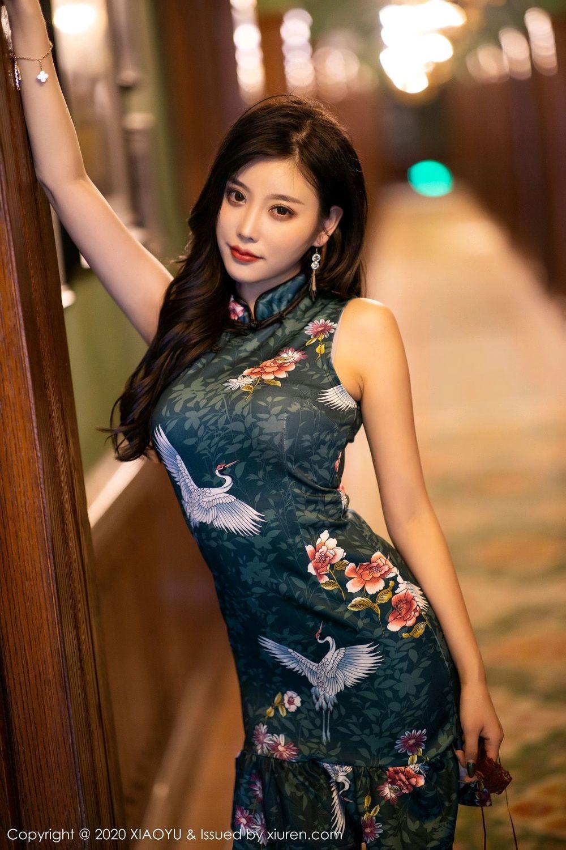 [XiaoYu] Vol.247 Yang Chen Chen 8P, Black Silk, Cheongsam, XiaoYu, Yang Chen Chen