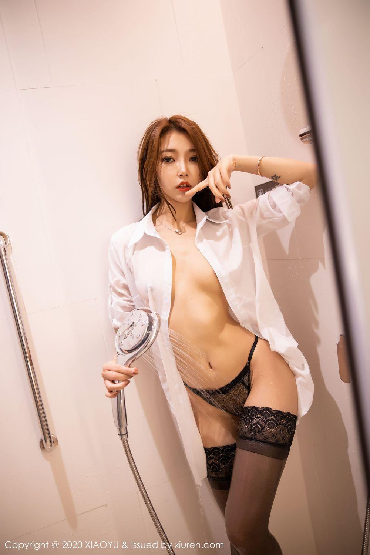 [XiaoYu] Vol.249 Feng Mu Mu 45P, Black Silk, Feng Mu Mu, Wet, XiaoYu