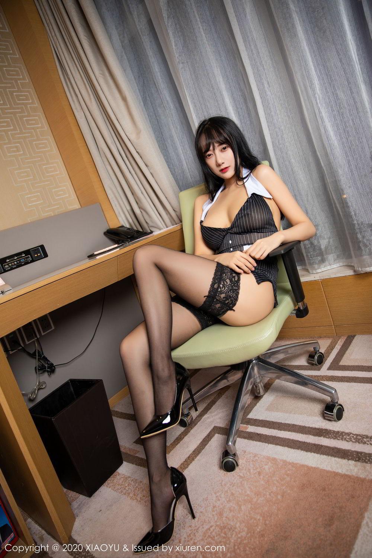 [XiaoYu] Vol.253 He Jia Ying 11P, Black Silk, He Jia Ying, Tall, Underwear, XiaoYu