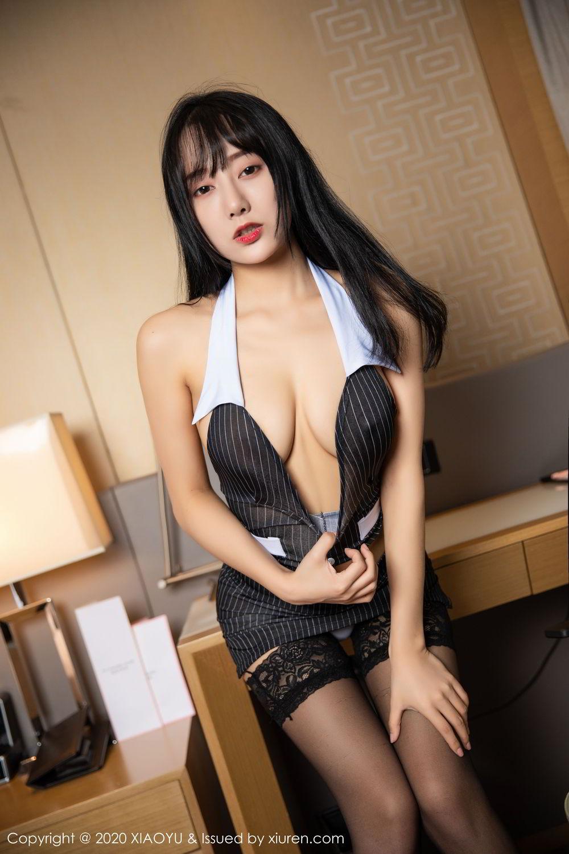 [XiaoYu] Vol.253 He Jia Ying 17P, Black Silk, He Jia Ying, Tall, Underwear, XiaoYu
