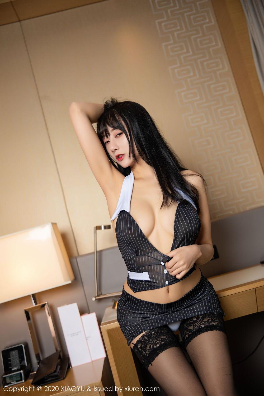 [XiaoYu] Vol.253 He Jia Ying 20P, Black Silk, He Jia Ying, Tall, Underwear, XiaoYu