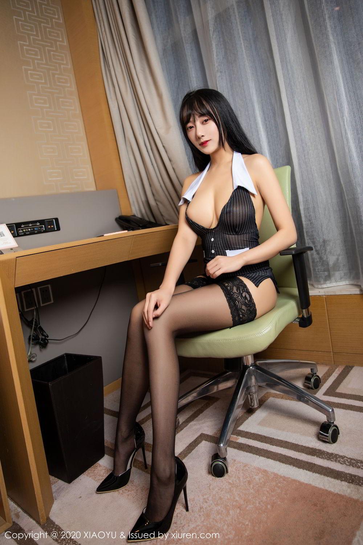 [XiaoYu] Vol.253 He Jia Ying 2P, Black Silk, He Jia Ying, Tall, Underwear, XiaoYu