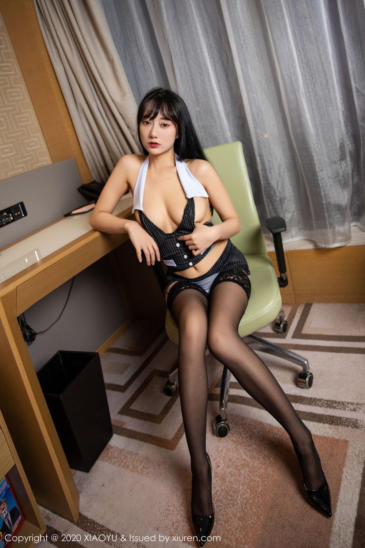 [XiaoYu] Vol.253 He Jia Ying 30P, Black Silk, He Jia Ying, Tall, Underwear, XiaoYu
