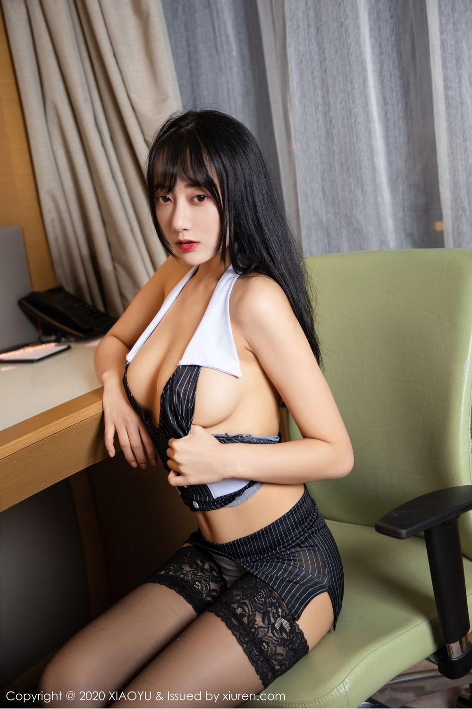 [XiaoYu] Vol.253 He Jia Ying 31P, Black Silk, He Jia Ying, Tall, Underwear, XiaoYu