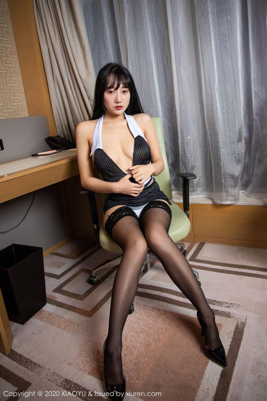 [XiaoYu] Vol.253 He Jia Ying 35P, Black Silk, He Jia Ying, Tall, Underwear, XiaoYu