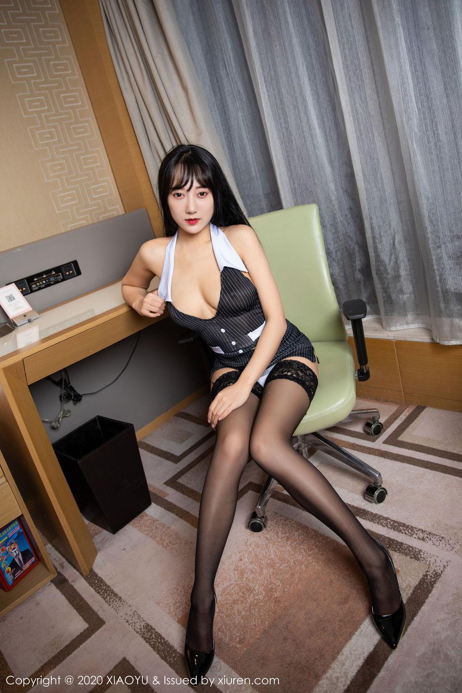 [XiaoYu] Vol.253 He Jia Ying 36P, Black Silk, He Jia Ying, Tall, Underwear, XiaoYu