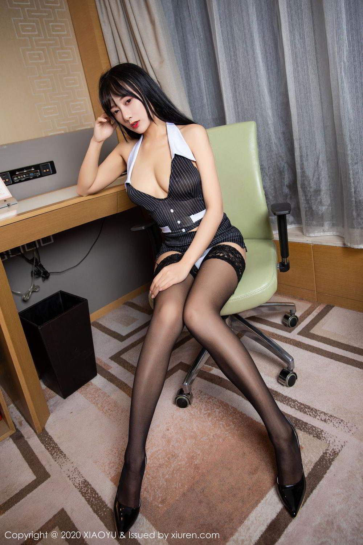 [XiaoYu] Vol.253 He Jia Ying 37P, Black Silk, He Jia Ying, Tall, Underwear, XiaoYu