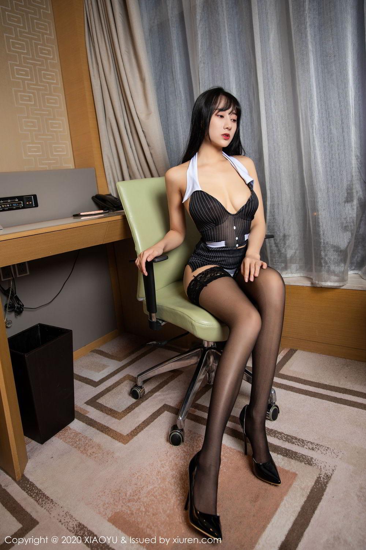 [XiaoYu] Vol.253 He Jia Ying 3P, Black Silk, He Jia Ying, Tall, Underwear, XiaoYu