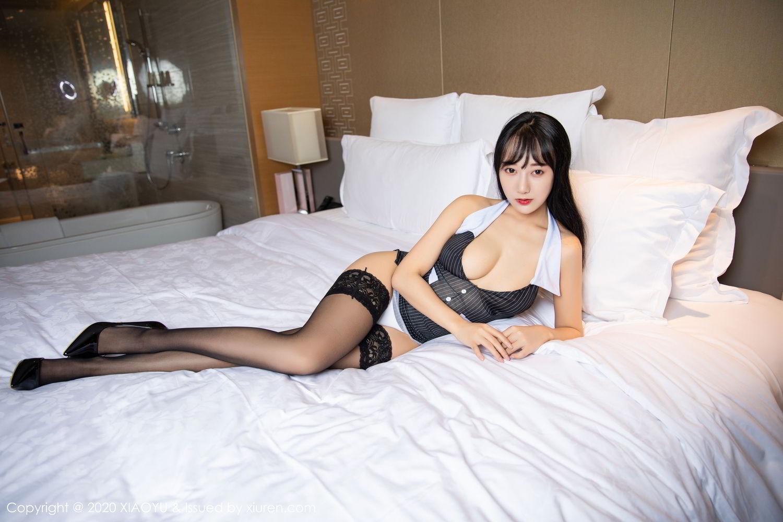 [XiaoYu] Vol.253 He Jia Ying 41P, Black Silk, He Jia Ying, Tall, Underwear, XiaoYu