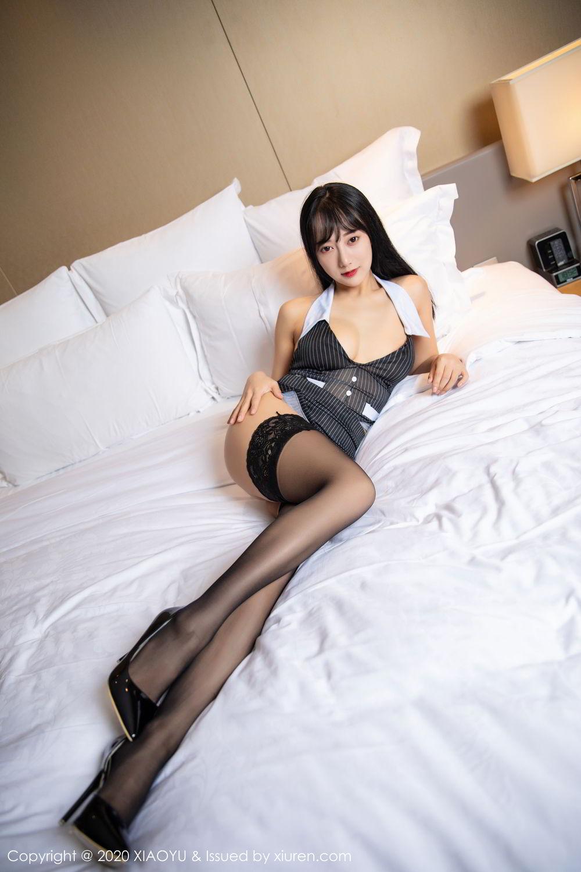 [XiaoYu] Vol.253 He Jia Ying 42P, Black Silk, He Jia Ying, Tall, Underwear, XiaoYu