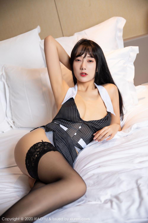[XiaoYu] Vol.253 He Jia Ying 43P, Black Silk, He Jia Ying, Tall, Underwear, XiaoYu