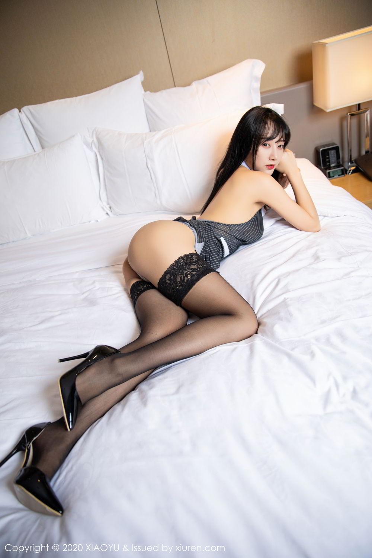 [XiaoYu] Vol.253 He Jia Ying 44P, Black Silk, He Jia Ying, Tall, Underwear, XiaoYu