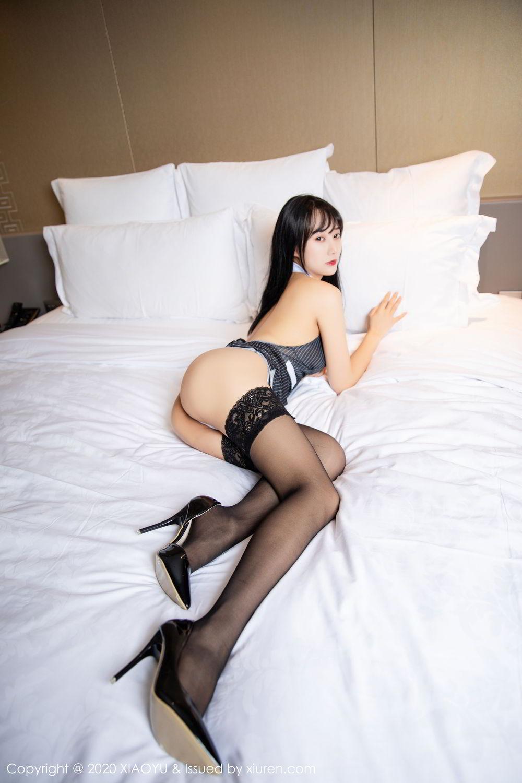 [XiaoYu] Vol.253 He Jia Ying 46P, Black Silk, He Jia Ying, Tall, Underwear, XiaoYu