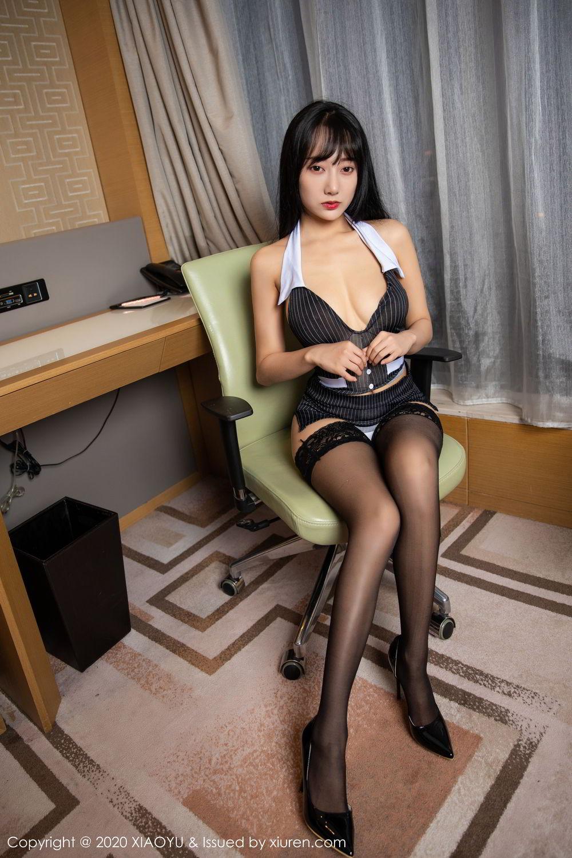 [XiaoYu] Vol.253 He Jia Ying 4P, Black Silk, He Jia Ying, Tall, Underwear, XiaoYu