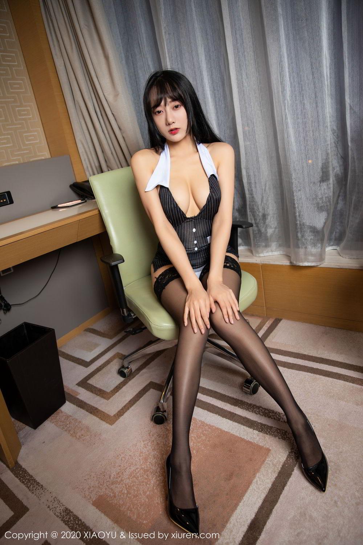 [XiaoYu] Vol.253 He Jia Ying 5P, Black Silk, He Jia Ying, Tall, Underwear, XiaoYu