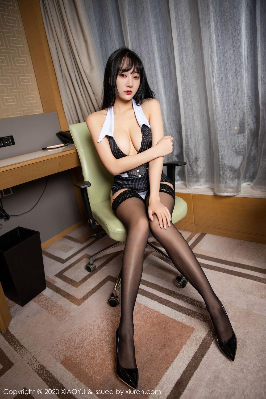 [XiaoYu] Vol.253 He Jia Ying 6P, Black Silk, He Jia Ying, Tall, Underwear, XiaoYu