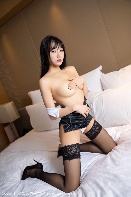 [XiaoYu] Vol.253 He Jia Ying 8P, Black Silk, He Jia Ying, Tall, Underwear, XiaoYu
