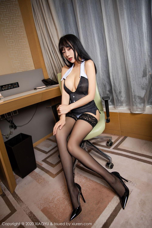 [XiaoYu] Vol.253 He Jia Ying 9P, Black Silk, He Jia Ying, Tall, Underwear, XiaoYu