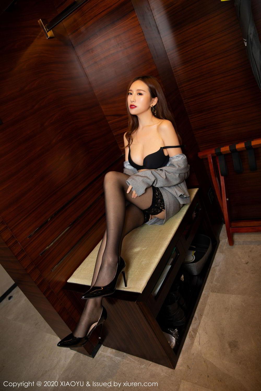 [XiaoYu] Vol.254 Yue Yin Tong 10P, Black Silk, Tall, Uniform, XiaoYu, Yue Yin Tong