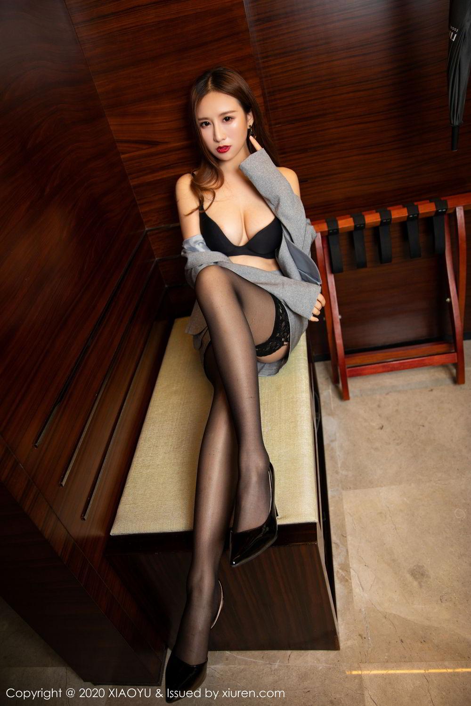 [XiaoYu] Vol.254 Yue Yin Tong 12P, Black Silk, Tall, Uniform, XiaoYu, Yue Yin Tong