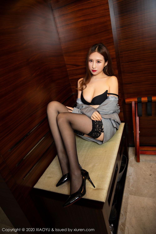 [XiaoYu] Vol.254 Yue Yin Tong 16P, Black Silk, Tall, Uniform, XiaoYu, Yue Yin Tong