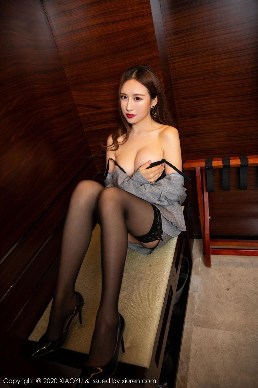 [XiaoYu] Vol.254 Yue Yin Tong 17P, Black Silk, Tall, Uniform, XiaoYu, Yue Yin Tong