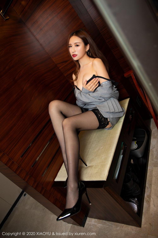 [XiaoYu] Vol.254 Yue Yin Tong 19P, Black Silk, Tall, Uniform, XiaoYu, Yue Yin Tong