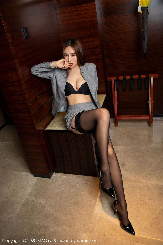 [XiaoYu] Vol.254 Yue Yin Tong 3P, Black Silk, Tall, Uniform, XiaoYu, Yue Yin Tong