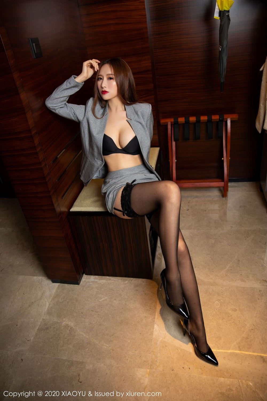 [XiaoYu] Vol.254 Yue Yin Tong 4P, Black Silk, Tall, Uniform, XiaoYu, Yue Yin Tong