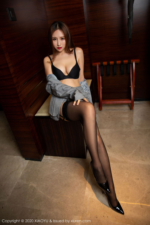 [XiaoYu] Vol.254 Yue Yin Tong 5P, Black Silk, Tall, Uniform, XiaoYu, Yue Yin Tong