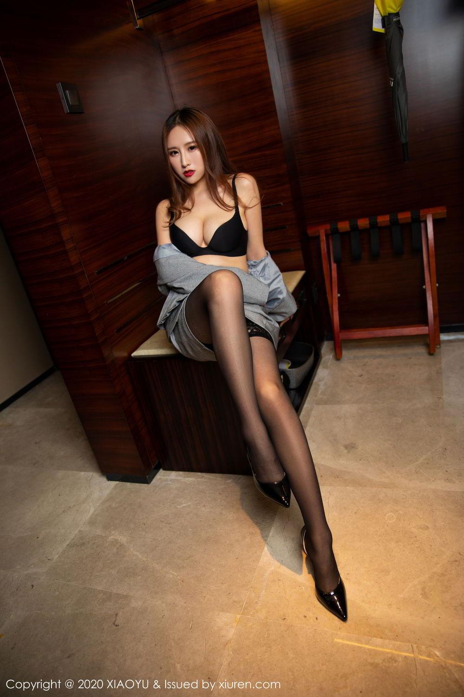 [XiaoYu] Vol.254 Yue Yin Tong 6P, Black Silk, Tall, Uniform, XiaoYu, Yue Yin Tong