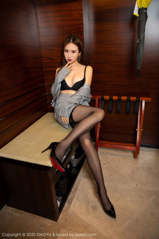 [XiaoYu] Vol.254 Yue Yin Tong 7P, Black Silk, Tall, Uniform, XiaoYu, Yue Yin Tong