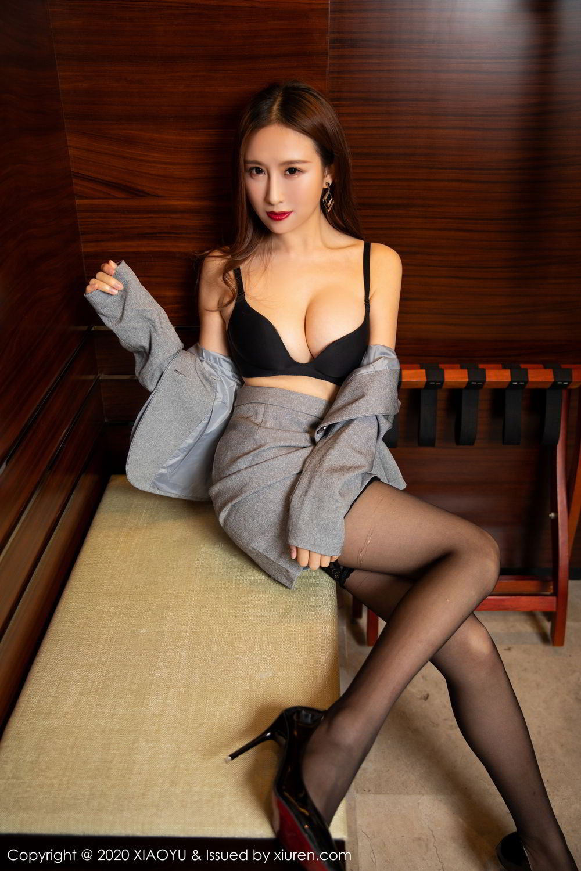 [XiaoYu] Vol.254 Yue Yin Tong 8P, Black Silk, Tall, Uniform, XiaoYu, Yue Yin Tong