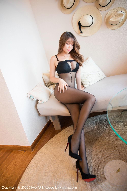 [XiaoYu] Vol.255 Zhi Zhi Booty 10P, Big Booty, Black Silk, Chen Zhi, Tall, XiaoYu