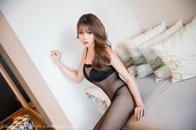 [XiaoYu] Vol.255 Zhi Zhi Booty 11P, Big Booty, Black Silk, Chen Zhi, Tall, XiaoYu