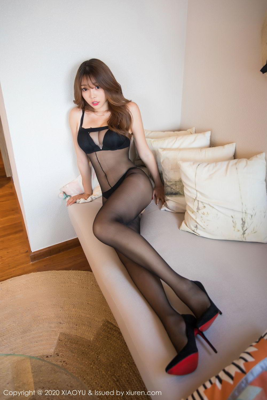 [XiaoYu] Vol.255 Zhi Zhi Booty 12P, Big Booty, Black Silk, Chen Zhi, Tall, XiaoYu