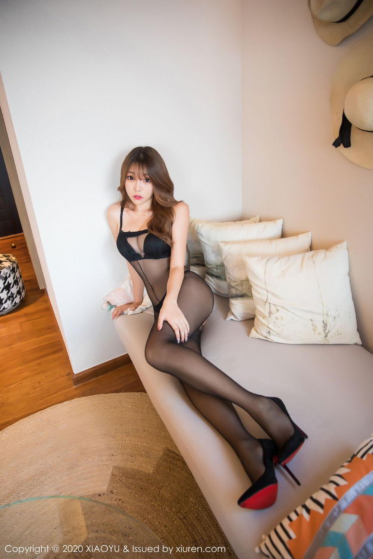 [XiaoYu] Vol.255 Zhi Zhi Booty 13P, Big Booty, Black Silk, Chen Zhi, Tall, XiaoYu