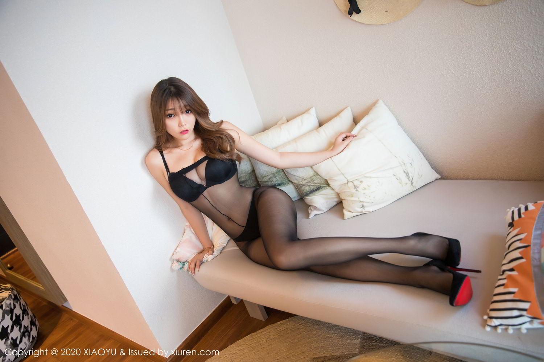 [XiaoYu] Vol.255 Zhi Zhi Booty 14P, Big Booty, Black Silk, Chen Zhi, Tall, XiaoYu