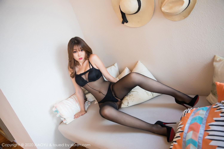 [XiaoYu] Vol.255 Zhi Zhi Booty 15P, Big Booty, Black Silk, Chen Zhi, Tall, XiaoYu