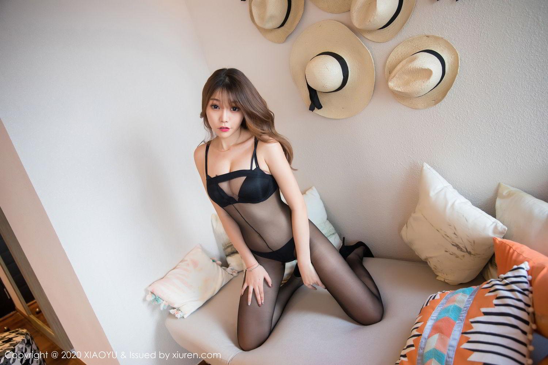 [XiaoYu] Vol.255 Zhi Zhi Booty 18P, Big Booty, Black Silk, Chen Zhi, Tall, XiaoYu