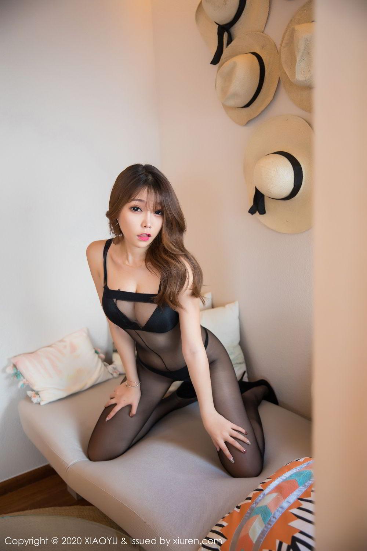 [XiaoYu] Vol.255 Zhi Zhi Booty 19P, Big Booty, Black Silk, Chen Zhi, Tall, XiaoYu