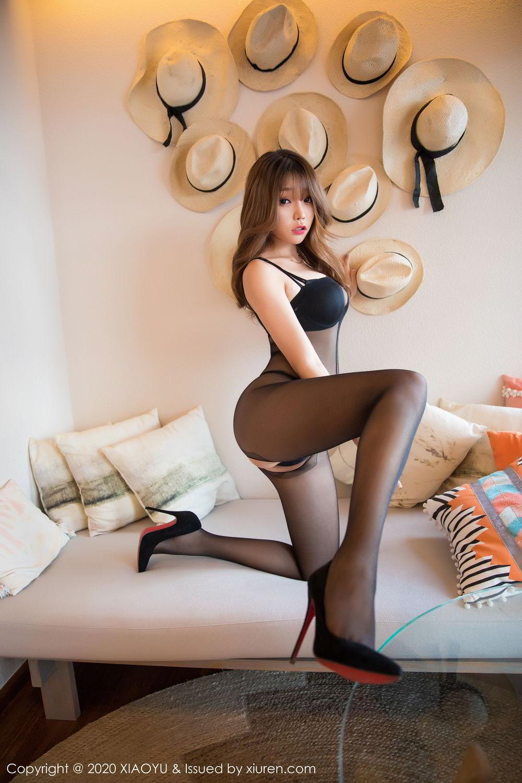 [XiaoYu] Vol.255 Zhi Zhi Booty 1P, Big Booty, Black Silk, Chen Zhi, Tall, XiaoYu